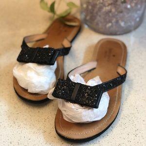 Black Confetti Kate Spade Flip Flops 7.5